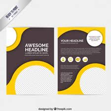 abstract brochure with circles vector free download flyers and