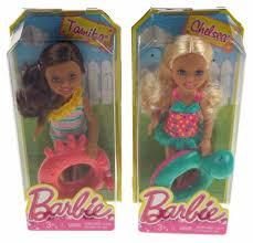 lot 2 barbie friends dolls sister chelsea tamika swim ring