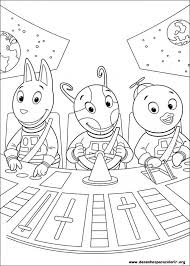 drawings paint u0026 colour backyardigans