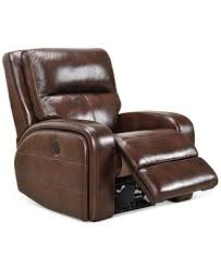 hannon leather power recliner created for macy u0027s furniture macy u0027s