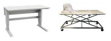 bureau ajustable table réglable en hauteur atelier