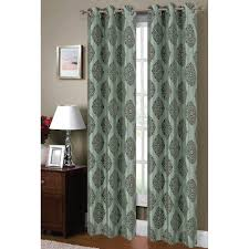 Suzani Curtain Window Elements Semi Opaque Suzani Flocked Faux Silk 84 In L