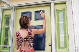 how to paint the front door front door