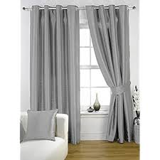 White And Grey Curtains Gray Bedroom Curtains Bedroom Interior Bedroom Ideas Bedroom