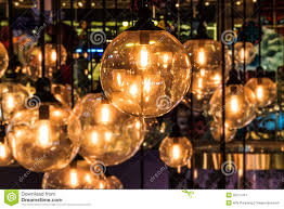 lighting decor close up with blurred background stock image
