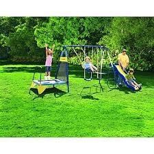Swing Set For Backyard by Sportspower Jump U0027n Swing Metal Backyard Swing Set