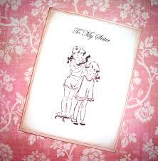 to my sister card sweet vintage image wedding card