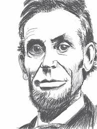 abraham lincoln drawn on apple ipad with sketchbook pro lance