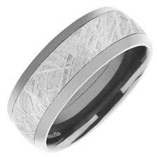 meteorite mens wedding band lashbrook mens wedding band in zirconium meteorite 8mm