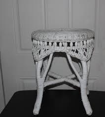 antique wicker stool excellent condition no damage great vanity