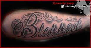blessed tattoo on arm pictures to pin on pinterest tattooskid
