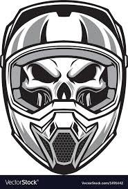 motocross helmet skull wearing motocross helmet royalty free vector image