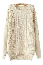 beige white cable knit sweater winter sweaters for