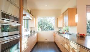 mid century kitchen floor glass sliding door drawer on concrete