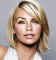 medium hairstyles with bangs pic