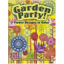 garden party flower designs to color dover nature coloring book