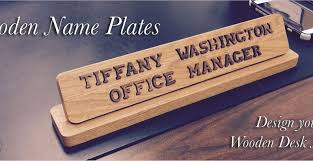 Personalized Desk Name Plates Door Office Door Wooden Plaque With Acrylic Amazing Office Door