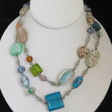 art glass necklace images Shop venetian glass bead necklace on wanelo jpg