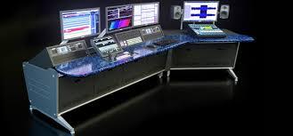Control Room Desk Computer Console Desk Desk Media Gaming Console Furniture Gaming