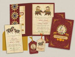 Card Inserts For Invitations Majestic Mughal Splendor Indian Wedding Invitations