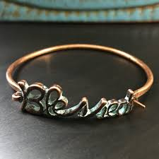 copper bangle bracelet images Jewelry blessed patina copper bangle bracelet poshmark jpg