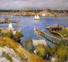 gloucester harbour sun 1895 willard metcalf wikiart org