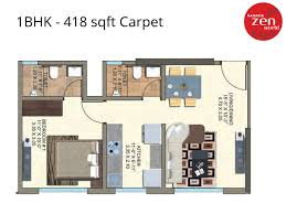 Zen Floor L 1 Bhk 418 Sqft Flats In Kanakia Zen World Kanjurmarg East 1