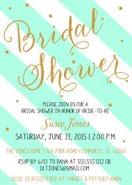 mint to be bridal shower gold bridal shower invitation confetti glitter stripes