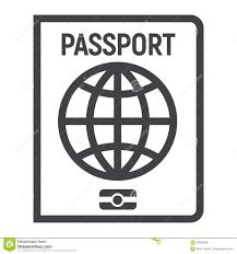 passport line icon travel and citizenship stock vector image
