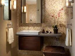 Powder Room Decor Ideas Bathroom Soft Beige And Gray Accent Tiny Tiles Powder Room Wall