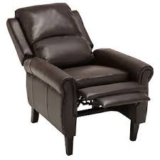 Brown Leather Accent Chair Brown Leather Recliner Armchair Accent Chair W Leg Rest Living