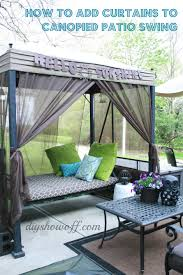 Homemade Gazebo Roof by Patio Swing Makeoverdiy Show Off U2013 Diy Decorating And Home