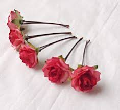 flower hair pins white flowers bobby pins roses bridal hair pins woodland bridal