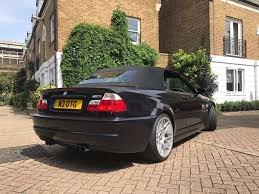bmw e46 m3 convertible manual low miles fsh black black in