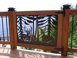 deck railing panels wildlife home business accessories