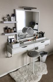Vanity Set With Lighted Mirror Bedroom Makeup Dressing Table White Makeup Desk Makeup Vanity