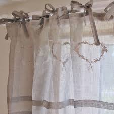 Tie Top Curtains Cotton by Aligning Corners Linen Curtain Panels