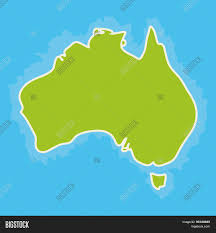 Blank Oceans And Continents Map by Map Of Australia Continent And Blue Indian Ocean Vector Stock