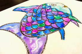 the rainbow fish 1st art with mrs nguyen