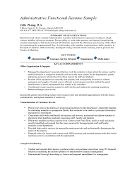 Virtual Assistant Resume Sample by Functional Resume Template For Administrative Assistant Word S