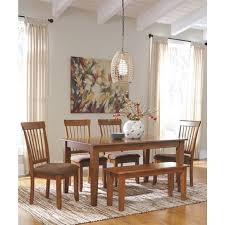ashley dining table with bench berringer large dining room bench wood rustic brown signature