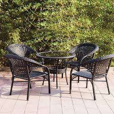 Patio Tables Only Adeco Wicker Patio Furniture Dinning Set Dinning Table Only
