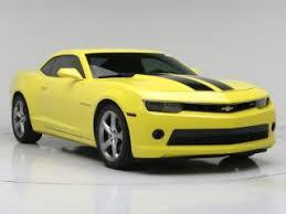 chevy camaro 2014 for sale yellow chevrolet camaro for sale carmax