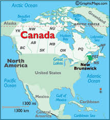map new map new brunswick canada large color map