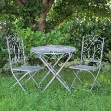 Grey Bistro Chairs Grey Metal Garden Bistro Set Homegenies
