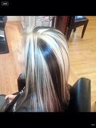 platinum blonde and dark brown highlights photo platinum blonde and brown highlights blonde highlights with