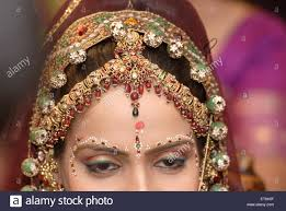view of forehead of of ornaments and bindi