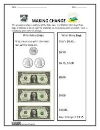 money worksheets money sense and making change innovative