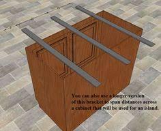 Support For Granite Bar Top Countertop Support Brackets Hidden Steel Brackets For