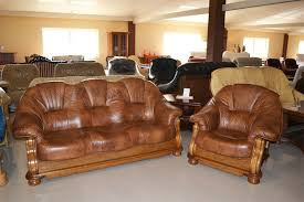 Leather And Wood Sofa Magnificent Leather And Wood Sofa Lord Solid Oak Top Grain Leather
